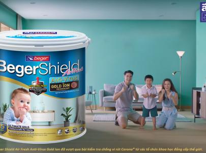 Sơn nội thất Beger Shield Air Fresh Anti-Virus Gold Ion đã vượt qua bài kiểm tra chống vi rút * từ các tổ chức đẳng cấp thế giới.